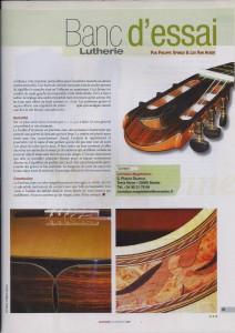 banc d'essai Guitare classique magazine N°29